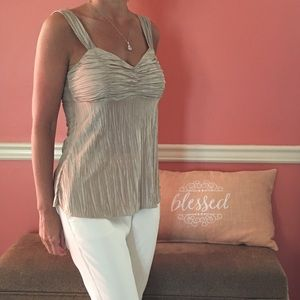 Gold cami top blouse very classy size small